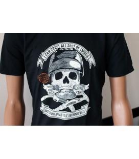 T-shirt Lastek Skull Mig & Tig Welding Nera