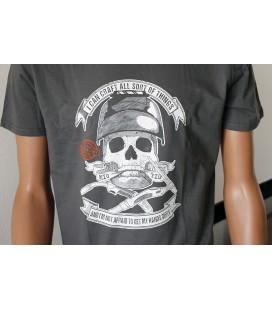T-shirt Skull Mig & Tig Welding Grigia