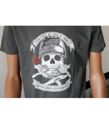 T-Shirt Skull M - Grigia